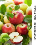 Red Green And Yellow Apples...