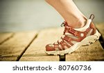foot of jogging person | Shutterstock . vector #80760736