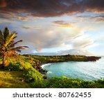oahu island | Shutterstock . vector #80762455