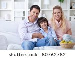 family with a child at home | Shutterstock . vector #80762782