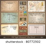 old style distressed postcards... | Shutterstock .eps vector #80772502