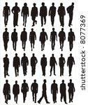 male models vector shapes | Shutterstock .eps vector #8077369