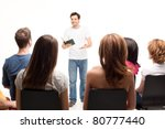 young handsome man teaching a... | Shutterstock . vector #80777440