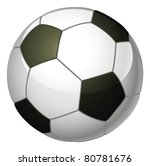 An illustration of a traditional black and white soccer foot ball - stock vector