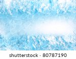 Abstract Ice Cube And Snow  In...