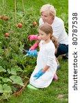 Gardening   Little Girl With...
