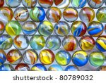 Multi Colored Marbles  Glass...