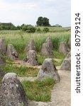 The Miedzyrzecz Fortification Region - the Nazi Germany anti tank fortification system - stock photo