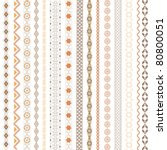 various motifs colored | Shutterstock .eps vector #80800051