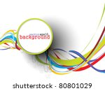 abstract colorful circle banner ...
