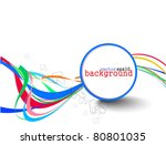 abstract colorful circle banner ... | Shutterstock .eps vector #80801035