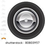 retro car wheel.  the series of ... | Shutterstock .eps vector #80803957