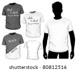 vector t shirt design template  ... | Shutterstock .eps vector #80812516
