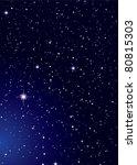 dark nights sky with stella... | Shutterstock .eps vector #80815303