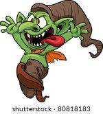 crazy cartoon goblin. vector...