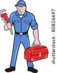 illustration of a plumber... | Shutterstock .eps vector #80826697