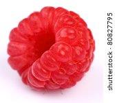 Ripe raspberry - stock photo