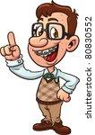 cartoon nerd boy. vector...   Shutterstock .eps vector #80830552