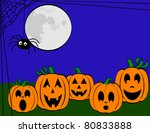 happy jack o'lanterns and... | Shutterstock .eps vector #80833888
