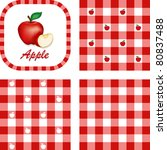 Apples And Gingham. Seamless...