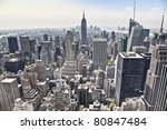 an aerial view over new york... | Shutterstock . vector #80847484