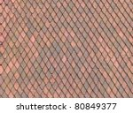 Roof Tile texture material of european medieval building - stock photo