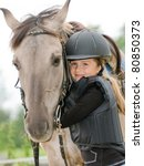 Horse And Jockey   Little Girl...
