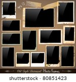 collection of vintage photo... | Shutterstock .eps vector #80851423