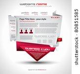 origami website   elegant...   Shutterstock .eps vector #80851585