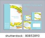 vector template for business... | Shutterstock .eps vector #80852893