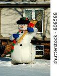 An Inflatable Snowman Is...