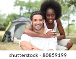 couple  camping | Shutterstock . vector #80859199