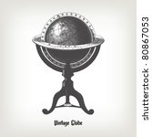 Engraving Vintage Globe From ...