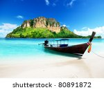 Long Boat And Poda Island In...