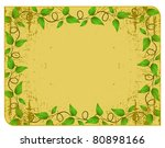 the yellow frame with rounded... | Shutterstock .eps vector #80898166