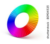 3d color wheel isolated on... | Shutterstock . vector #80904535
