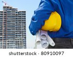 male contractor or civil... | Shutterstock . vector #80910097
