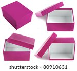 Open empty gift box isolated on white background - stock photo