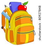 school backpack | Shutterstock .eps vector #80927848