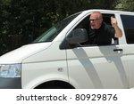 Violent Driver  In A Big Car ...