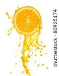 orange juice splash isolated on ... | Shutterstock . vector #80935174