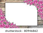 photo frames on wood | Shutterstock . vector #80946862