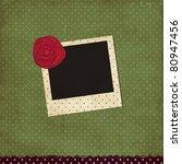 vector scrap template with rose   Shutterstock .eps vector #80947456