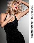 elegant fashionable woman in...   Shutterstock . vector #80948701