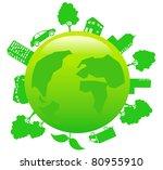 earth   sustainable development ... | Shutterstock .eps vector #80955910