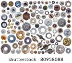 screws and nuts heads set... | Shutterstock . vector #80958088
