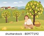 pear harvest | Shutterstock .eps vector #80977192