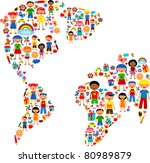 planet of kids  colorful vector ... | Shutterstock .eps vector #80989879