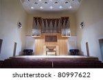 Massive Wooden Pipe Organ In...