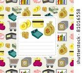 cartoon finance   money card | Shutterstock .eps vector #81016558